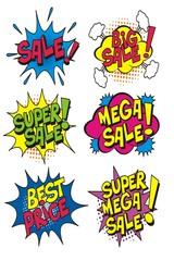 set of sale promotion bubble text vector.