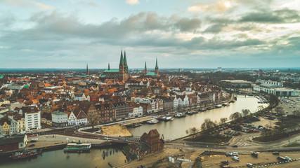 Panoramabild der Hansestadt Lübeck