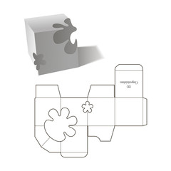 Retail Box with Blueprint Template