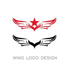 Wing vector graphic design.
