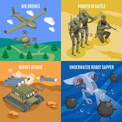 Military Robots 2x2 Design Concept
