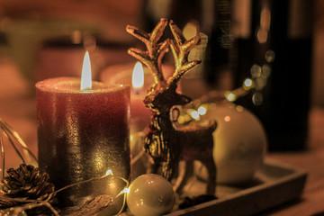 Zweiter Advent mit Hirschdeko