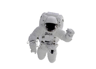 Space Astronaut isolated on white background. Elements of this image were furnished by NASA
