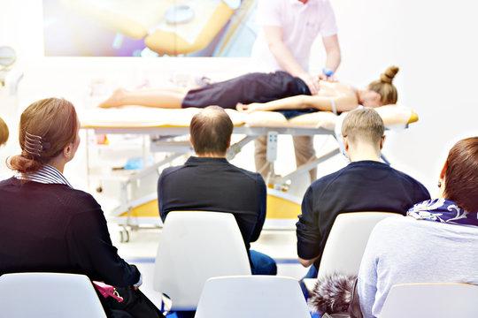 Massage training in classroom
