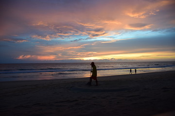 Sunset on the beach ( Phuket,Thailand)