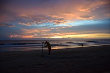 Sunset on the beach ( Phuket,Thailand)