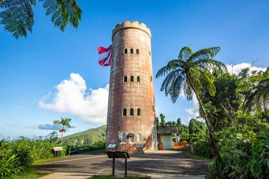 Yokahu Tower in El Yunque Puerto Rico scenic view
