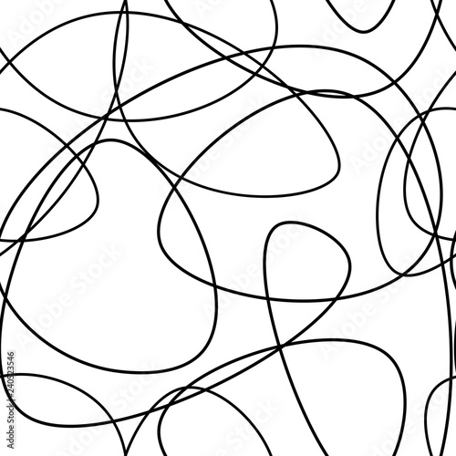 Vector Abstract Seamless Scribble Background Fantasy Modern