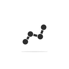 Monochrome simple chart icon . Vector illustration.