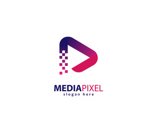Media pixel design logo