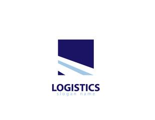 Logitics road logo
