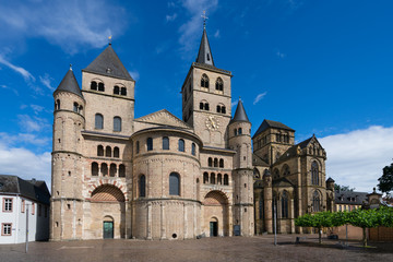 The High Cathedral of Saint Peter in Trier, Germany. It is the oldest cathedral in the country. It is listed as part of the Roman Monuments in Trier UNESCO World Heritage Site. Wall mural