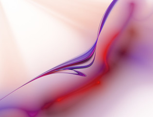 Abstract multicolored wave on light background