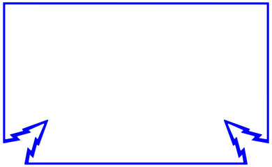 Sample silhouette blue flat frame with corner element fir-tree. New year Christmas tree illustration. Border design for bazaar, fair. Deco elegant art symbol. Vector for decoration, photo, banner