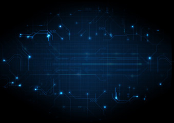Deep Blue Futuristic Game Circuit Background