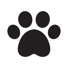 dog paw vector footprint icon logo french bulldog cat puppy cartoon symbol sign illustration doodle