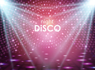 Disco abstract background. Disco ball texture. Spot light rays
