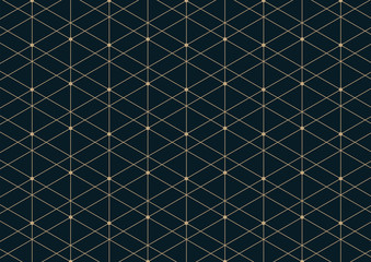 Abstract geometric pattern with lines on dark blue background