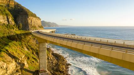 Printed kitchen splashbacks Australia Scenic and sunny day on the Sea Cliff Bridge