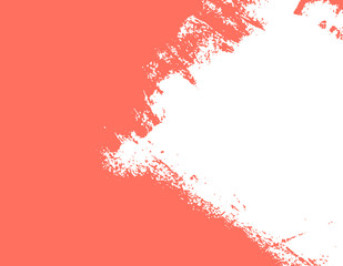 living coral, color of the 2019 year paint stroke