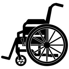 gz239 GrafikZeichnung - german - Rollstuhl für Behinderte - english - disability wheelchair - simple template - square - xxl g6925