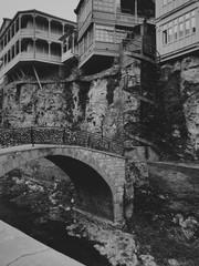 Legvtakhevi canyon with old bridge in Tbilisi, Georgia.