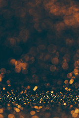 Blur neon gold and blue light circle background.