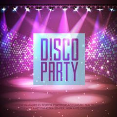 Disco abstract background. Disco poster