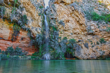 Turche cave and waterfall in Alborache, Valencia