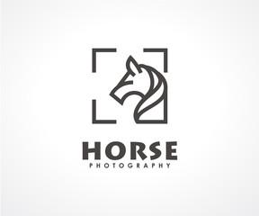 Horse or photography logo design concept