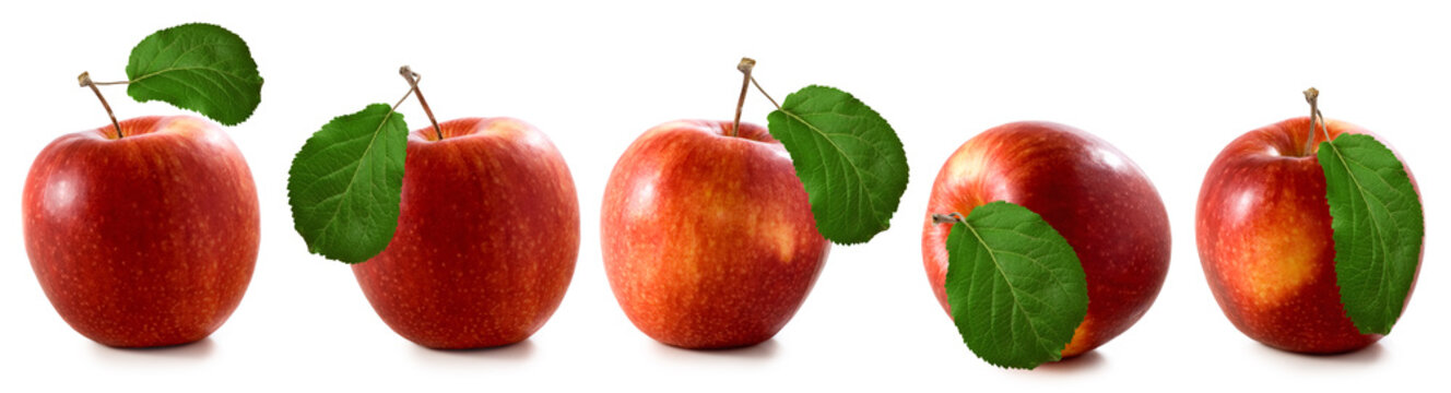 isolated image of apples closeup