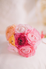 rose flowers bridal bouquet - wedding, holiday and floral garden styled concept