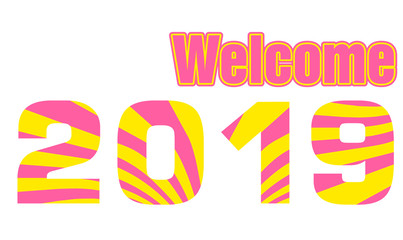 Welcome 2019 illustration vector
