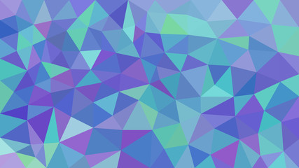 Low poly triangular modern geometric background. For your flayer, brochure, poster background. Triangles of different sizes and colors.