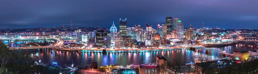 Foto op Canvas Barcelona Pittsburgh Skyline