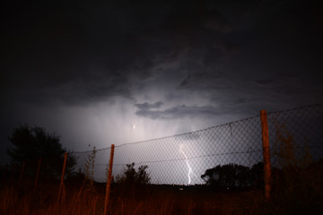 Electric Cloud to Ground Lightning