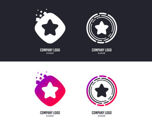 Logotype concept. Star sign icon. Favorite button. Navigation symbol. Logo design. Colorful buttons with icons. Vector