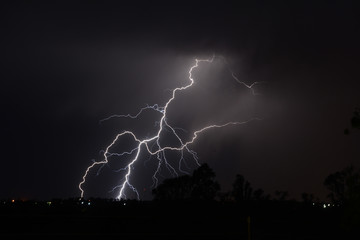 Crisscross Cloud to Ground Lightning