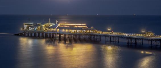 Pier under moonlight