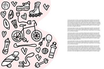 Sport activities symbols. Vector illustration.