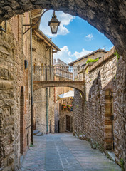 Scenic sight in Gubbio, medieval town in the Province of Perugia, Umbria, central Italy.