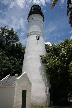 Weißer Leuchtturm auf Key West Florida