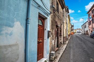 Narrow alley in Villanova Monteleone