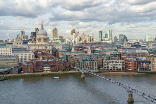 St. Paul's Cathedral, London skyline and the River Thames
