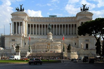 Piazza Venezia, rome, italy, the Monument to Vittorio Emanuele II, monument, stairways,  equestrian sculpture,  Tomb of the Unknown Soldier,  architecture, landmark, cityscape