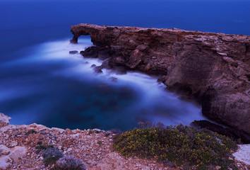 Ghar Hanex. Cliffs on coastline of Malta