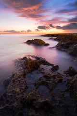 Sunrise on Fond Ghadir Beach, Sliema, Malta