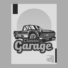 American muscle cars label, vector muscle car icon - Vector