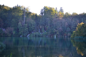 Plitvice Lakes National Park, turquoise lakes and waterfalls in Croatia - UNESCO World Heritage