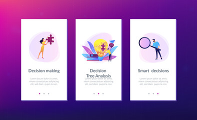 Business team brainstorm, lightbulb and rocket. Vision statement, business and company mission, business planning concept on ultraviolet background. Mobile UI UX GUI template, app interface wireframe